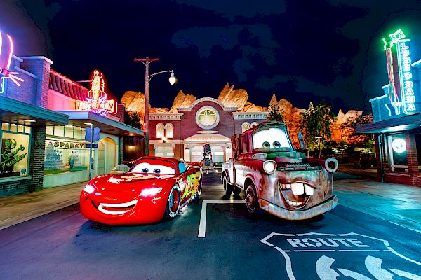 Lightning McQueen and Mater at DISNEY CALIFORNIA ADVENTURE® Resort.